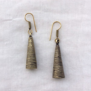 Brass Polished Handmade Earrings
