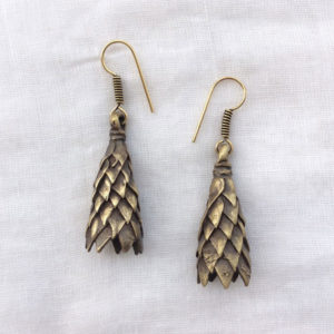 Brass Oxidised Handmade Earrings